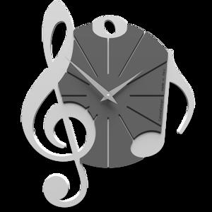 CALLEA DESIGN VIVALDI OROLOGIO DA PARETE MUSICALE LEGNO BIANCO GRIGIO