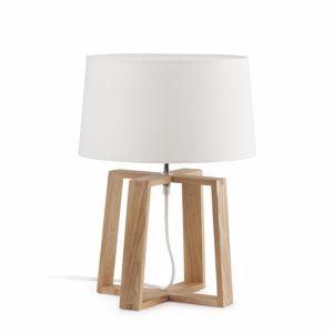 ABAT-JOUR LAMPADE DA TAVOLO MODERNE IN LEGNO NATURALE PER CAMERA DA LETTO