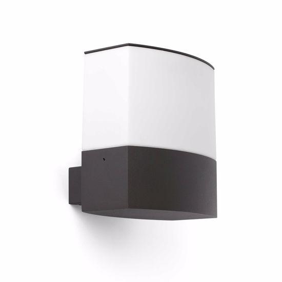 APPLIQUE LAMPADA DA PARETE PER ESTERNO GRIGIO DESIGN MODERNO IP44