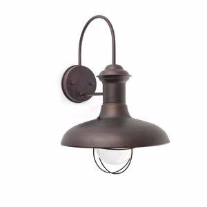 LAMPADA DA PARETE RUSTICA MARRONE PER ESTERNO IP33