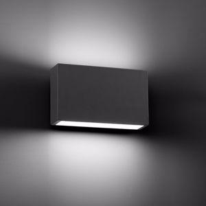 APPLIQUE DA ESTERNO MODERNO RETTANGOLARE IP44 LED 6W 3000K GRIGIO SCURO