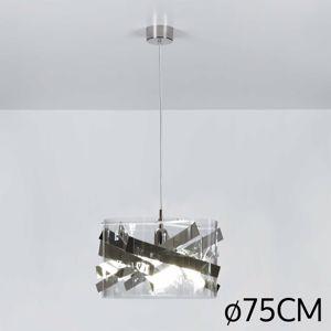 LAMPADARIO DESIGN PER SOGGIORNO MODERNO CROMATO MATERIALE PLASTICO