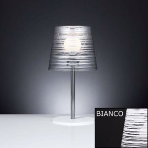 LAMPADA DA TAVOLO ABAT-JOUR CAMERA DA LETTO BIANCA MODERNA MATERIALE PLASTICO