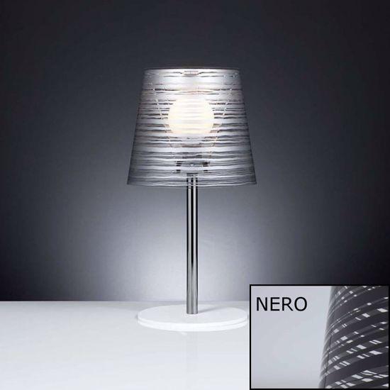 ABAT-JOUR LAMPADA DA TAVOLO MODERNA FILI COLORE NERO MATERIALE PLASTICO
