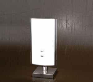 LAMPADA DA COMODINO ABATJOUR MODERNA IN VETRO BIANCO TOP LIGHT SHADOW