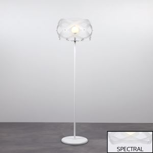 LAMPADA DA TERRA PARALUME DESIGN MODERNO MATERIALE PLASTICO TRASPARENTE