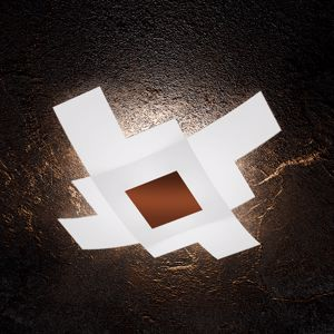 PLAFONIERA DESIGN MODERNO 75CM DECORO CORTEN TOP LIGHT TETRIS