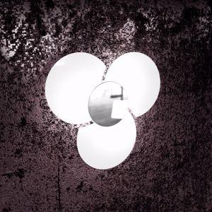 PLAFONIERA MODERNA 45CM BIANCA DESIGN TOP LIGHT CLOVER