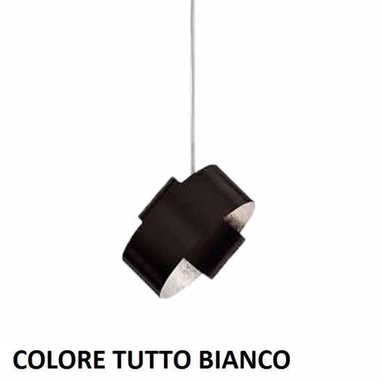 MARCHETTI PURA LAMPADARIO MODERNO DA CUCINA 18CM IN METALLO BIANCO