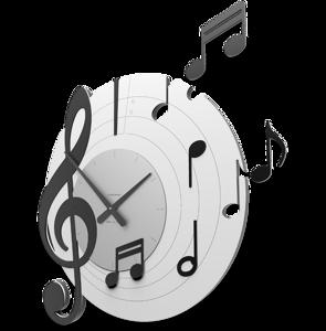 CALLEA OROLOGIO DA PARETE MUSICALE LEGNO NERO GRIGIO