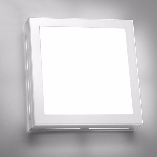 ANTEA LUCE BLOCK  PLAFONIERA LED 13W 3000K 20X20 DESIGN MODERNO VETRO BIANCO