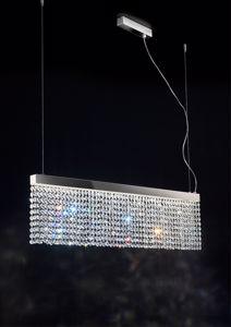 LAMPADARIO LED 20W 3000K CRISTALLI DESIGN MODERNO PER SOGGIORNO