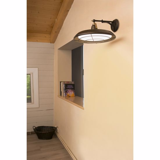 APPLIQUE LAMPADA A PARETE DA ESTERNO IP44 LED 15W 2700K VINTAGE RUSTICO
