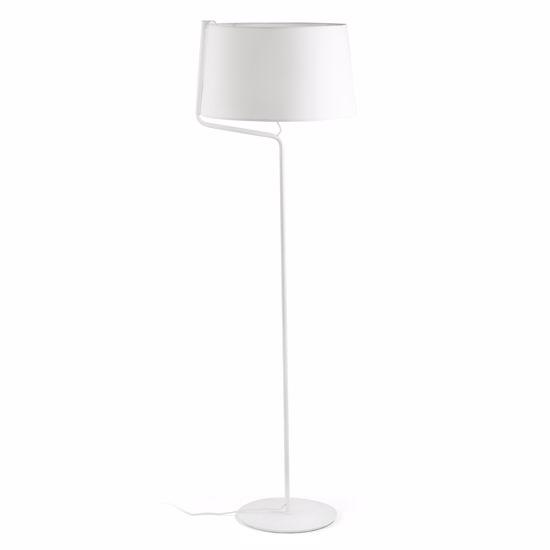 LAMPADA MODERNA DA TERRA COLORE BIANCO CON PARALUME