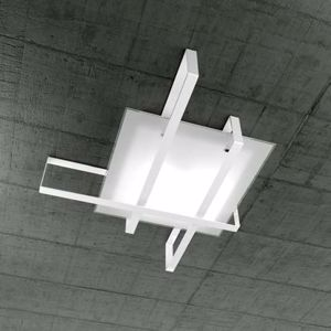 TOPLIGHT CROSS PLAFONIERA MODERNA METALLO BIANCO LARGE