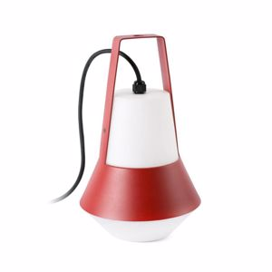 LAMPADA DA GIARDINO ROSSA PER ESTERNO IP54 DESIGN MODERNO