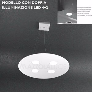 TOPLIGHT CLOUD LAMPADARI CUCINA LED BIANCO MODERNO  DOPPIA ILLUMINAZIONE