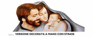 CAPEZZALE SAGOMATO 100X90 SAGA FAMIGLIA DECORO PITTORICO + CRISTALLI