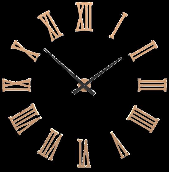 CALLEA DESIGN GRANDE OROLOGIO DA PARETE 124 MODERNO NUMERI ROMANI ADESIVI LEGNO PESCA CHIARO