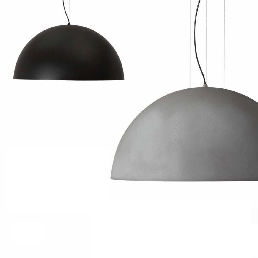 Lampadari A Cupola Moderni.Lampadari Cucina Moderna 60cm Cupola In Metallo Grigio
