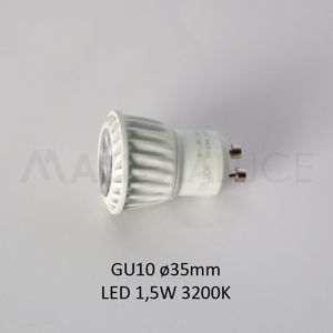 ISYLUCE LAMPADINA LED 1,5W GU10 35MM 3200K 120 LUMEN OTTICA 36 GRADI