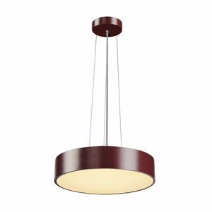 LAMPADARIO A LED 31W 3000K DIMMERABILE MODERNO 38CM COLORE BORDEAUX