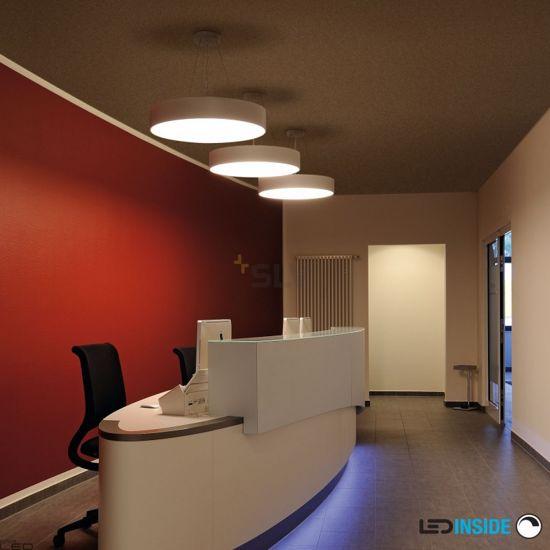 LAMPADARIO A LED MODERNO 60CM NERO 40W 3000K DIMMERABILE FORMA ROTONDA