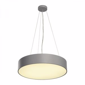 LAMPADARIO A LED MODERNO 40W 3000K DIMMERABILE 60CM GRIGIO ARGENTO