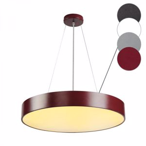 LAMPADARIO MODERNO LED 40W 3000K DIMMERABILE 60CM BORDEAUX