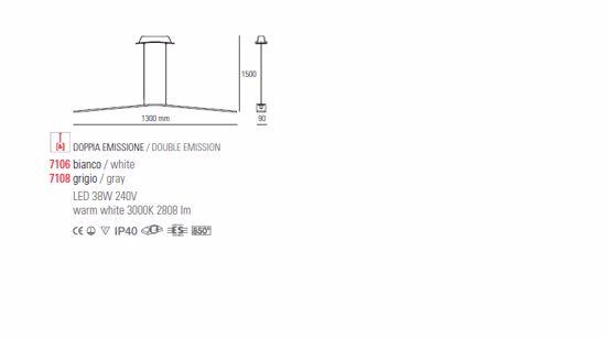LAMPADARIO LED 45W 3000K PER SOGGIORNO DESIGN MODERNO