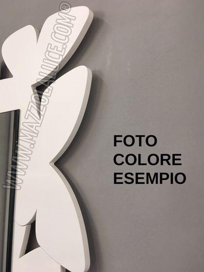 SPECCHIO DA PARETE MODERNO BUTTERFLY CALLEA DESIGN LEGNO BIANCO GRIGIO
