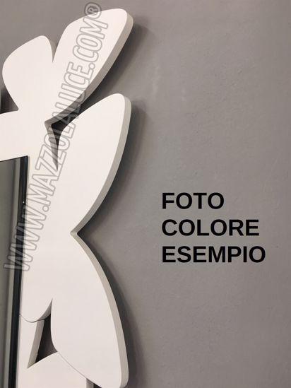 CALLEA DESIGN SPECCHIO DA PARETE FARFALLE LEGNO COLORE ROSA NUVOLA