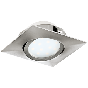 FARETTO LED DA INCASSO QUADRATO ORIENTABILE LED 6W 3000K NICKEL