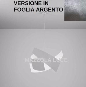 LAMPADARIO PER SOGGIORNO O SALONE 65CM ELLA MARCHETTI FOGLIA ARGENTO