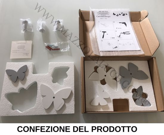 APPENDIABITI DA PARETE FARFALLE LEGNO CALLEA DESIGN COLORE VERDE OLIVA