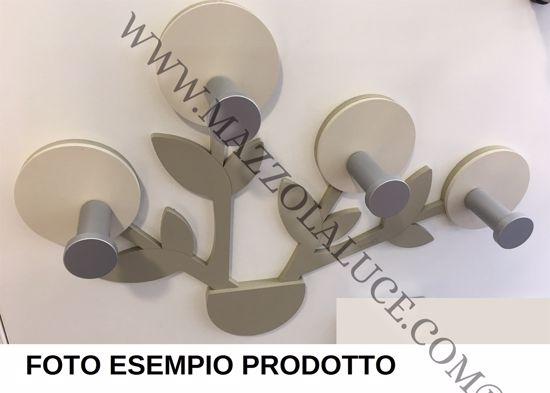 APPENDI ABITI DA PARETE PIANTA LEGNO COLORE CARTA DA ZUCCHERO CALLEA DESIGN