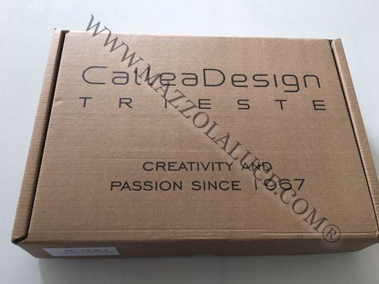 CALLEA DESIGN CICCIO OROLOGIO MODERNO DA PARETE LEGNO COLORE CAFFELATTE