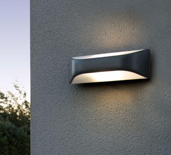 LAMPADA DA PARETE DA ESTERNO MODERNO E27 LED LUCE BIEMISSIONE
