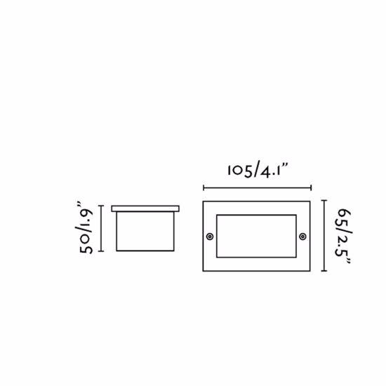 SEGNAPASSO LED DA ESTERNO 1W 3000K IP65 INCASSO A PARETE ACCIAIO INOX 304