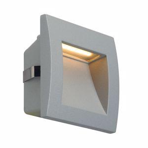 SEGNAPASSO DA INCASSO A PARETE LED PER ESTERNO 0,96W 3000K IP55 GRIGIO