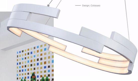 GRANDE LAMPADARIO A LED 80CM BIANCO DESIGN PER SOGGIORNO 137W