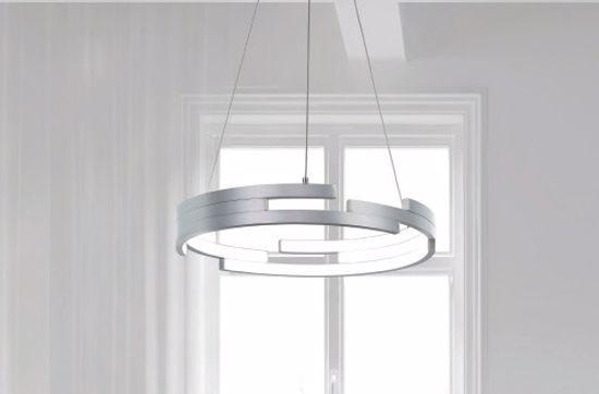 LAMPADARIO DESIGN MODERNO LED 79W 45CM 3000K IN ALLUMINIO