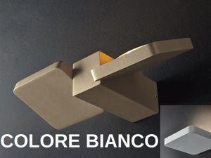 APPLIQUE LED IP20 2X12W 3000K LUCE ORIENTABILE METALLO BIANCO