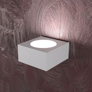 TOPLIGHT AREA APPLIQUE LED MODERNA GRIGIO MENSOLA SQUADRATA LUCE UP