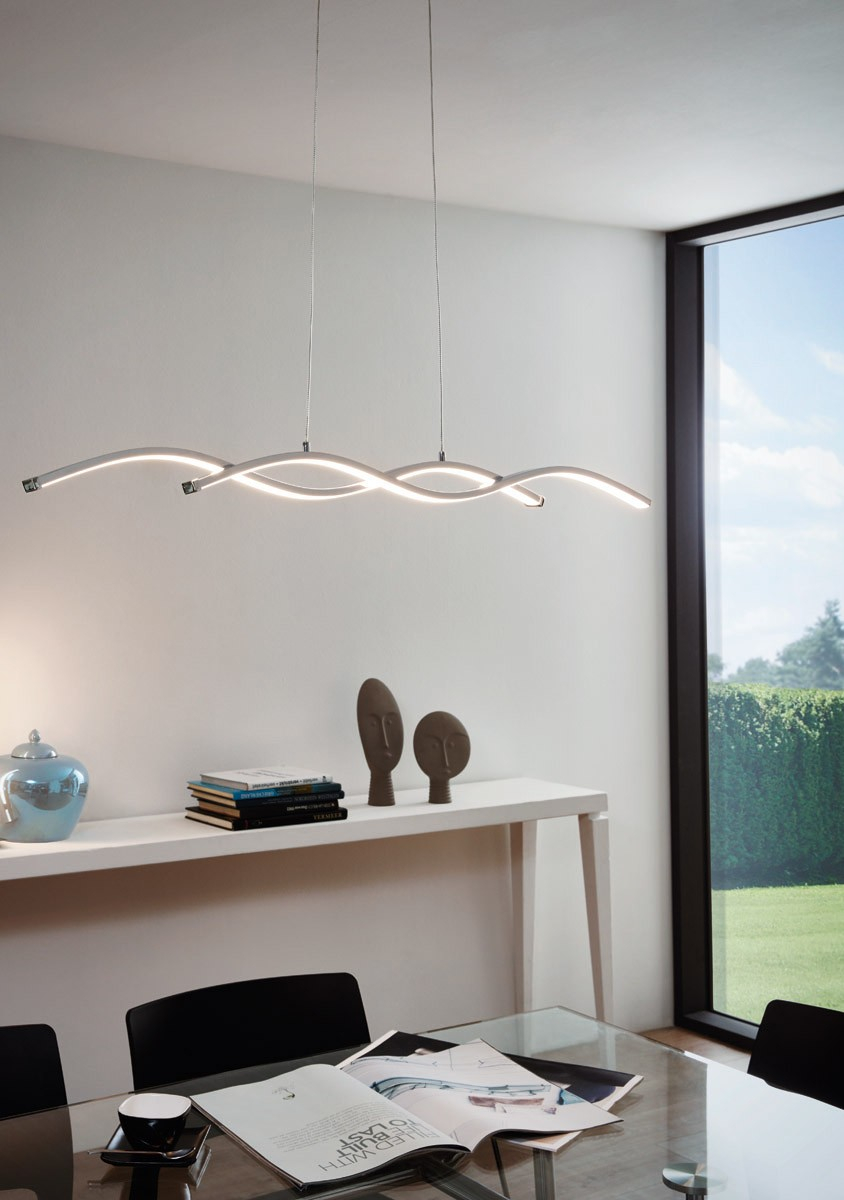 LAMPADARI MODERNI DESIGN DA SOGGIORNO LED 28W 3000K - 96104
