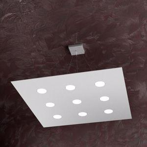 LAMPADARI A LED A SOSPENSIONE MODERNE 9 LUCI GRIGIO PER SALOTTO TOPLIGHT AREA