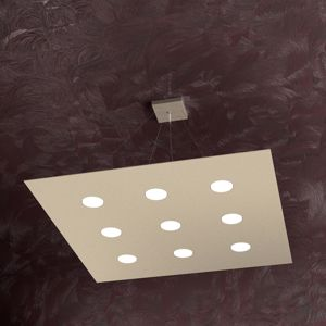 TOPLIGHT AREA LAMPADARIO QUADRATO LED 9 LUCI DESIGN SABBIA PER SALONE