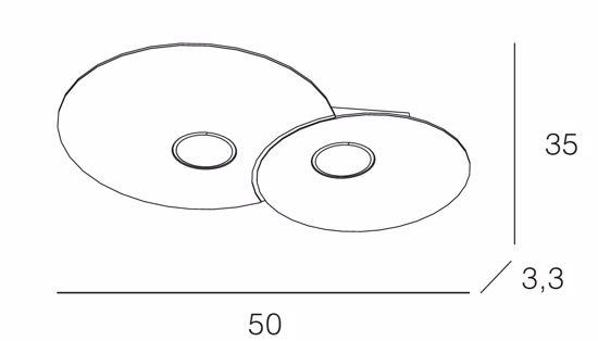 PLAFONIERA LED MODERNA 2 LUCI GX53 PER INGRESSO CORRIDOIO  CLOUD TOPLIGHT