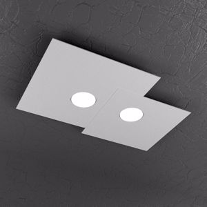 PLAFONIERA LED DESIGN MODERNA GRIGIO TOP LIGHT PLATE