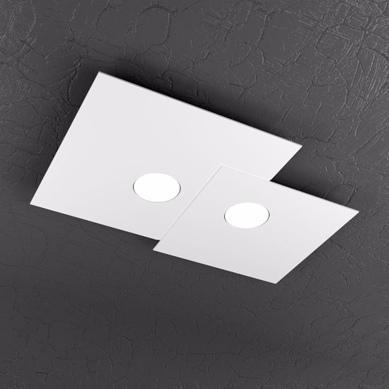 PLAFONIERA LED DESIGN BIANCA MODERNA PER INGRESSO TOPLIGHT PLATE